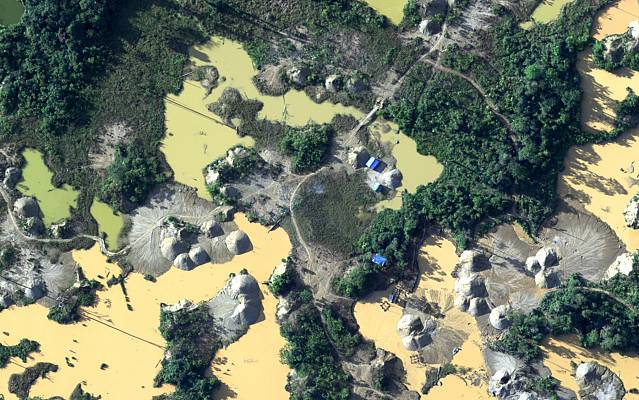 Illegal mining in Peru
