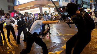 Erneut Ausschreitungen und Gewalt bei Demonstrationen in Hongkong - die beeindruckendsten Bilder