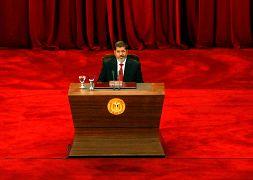 محمد مرسي يلقي خطابا في جامعة القاهرة - 2012
