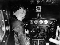he first woman to fly solo across the Atlantic: Amelia Mary Earhart