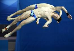 مسابقات جهانی ورزشهای آبی (فینا) در کره جنوبی/ شیرجه دو نفره ده متر مردان