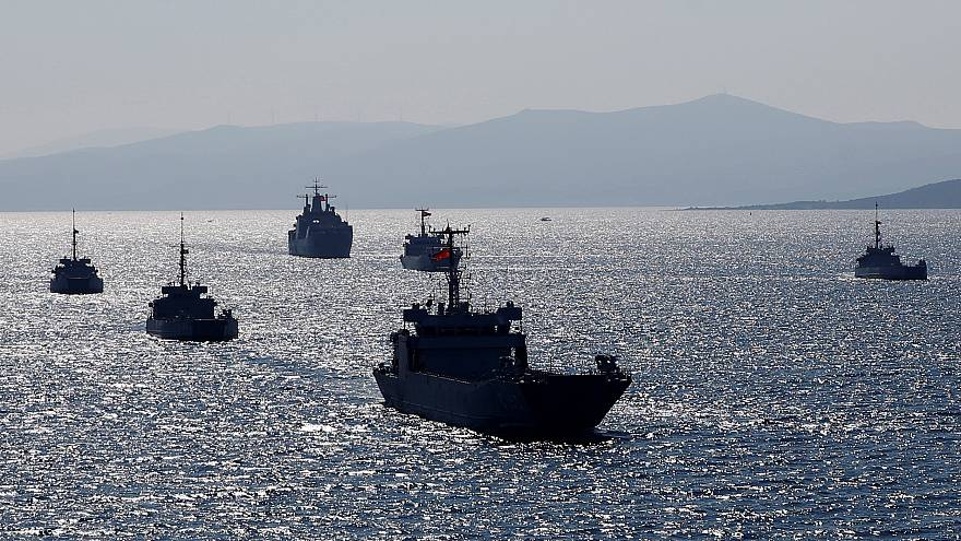 The Blue Homeland naval exercise of turkish army