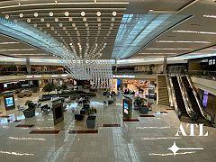L'aéroport d'Atlanta désert.
