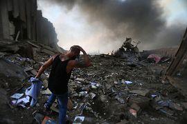 Порт Бейрута почти полностью уничтожен взрывом 4 августа 2020.
