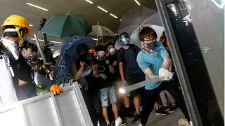 Protesters broke into the Legislative Council building