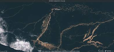 Illegal mining in Peru, from space