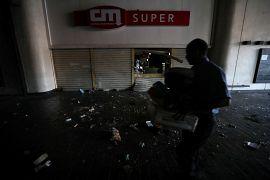 Un supermercado saqueado en Caracas, Venezuela. 10 de marzo de 2019.