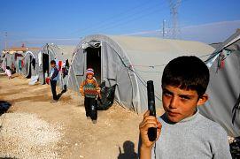 کودک آواره کرد در ترکیه در سال ۲۰۱۴