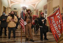 Supporters of US President Donald Trump enter the US Capitol in Washington, USA. January 6, 2021