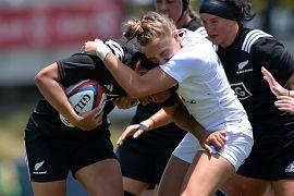 مسابقه راگبی زنان میان تیمهای نیوزیلند و انگلیس در ایالات متحده