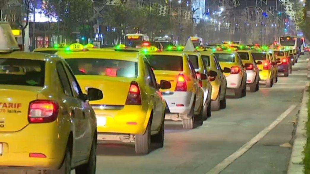 Румынские таксисты бастуют