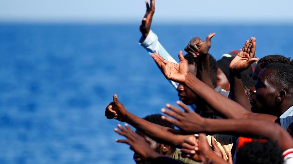 Migranti salvati nel Mediterraneo.