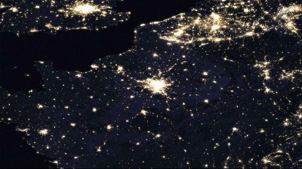 Paris, Londres et Bruxelles vues de l'espace