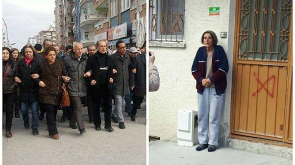 Malatya'da Alevilerin evlerinin işaretlenmesi protesto edildi