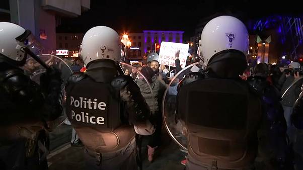 """اشتباكات في بلجيكا خلال تظاهرة ضد """"تجارة العبيد في ليبيا"""""""