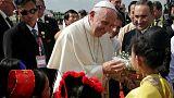 پاپ فرانسیس وارد میانمار شد؛ آیا او لفظ «روهینگیا» را بکار می برد؟