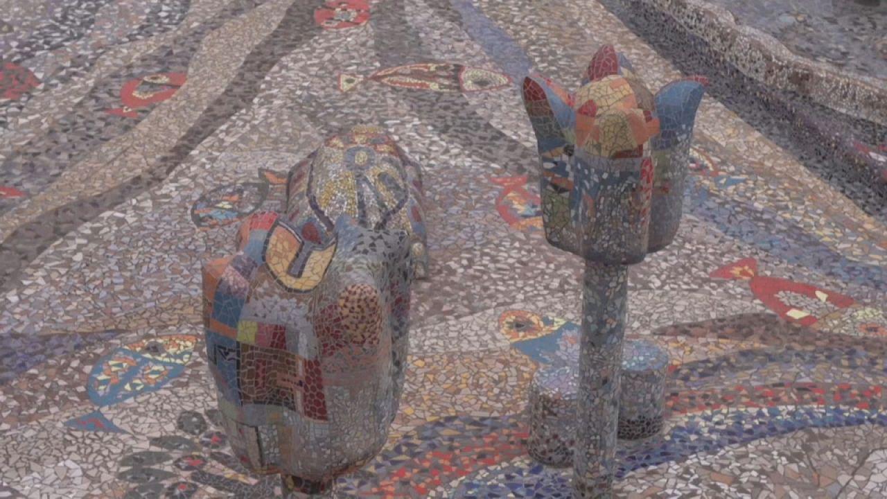 Mosaico atrai artistas brasileiros