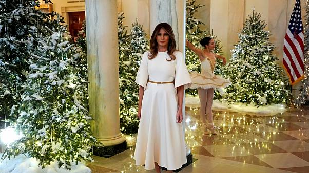 اولین جشن کریسمس برای ملانیا ترامپ در کاخ سفید