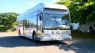 Costa Rica presenta su primer autobús impulsado por hidrógeno