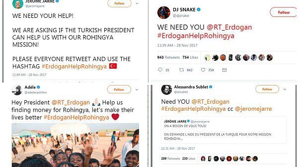 Yabancı ünlülerden Erdoğan'a Arakan çağrısı