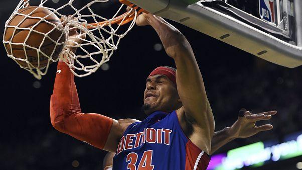 Drummond NBA tarihine geçti Pistons deplasmanda Celtics'i devirdi