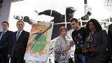 Vitaly Mutko, Fatma Samoura e Igor Akinfeev apresentaram cartaz oficial