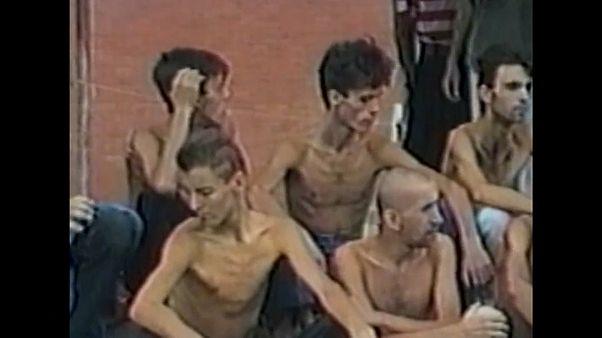 Gefangene in bosnisch-kroatischen Lagern