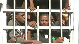 مهاجرون أفارقة في مراكز الاحتجاز في ليبيا