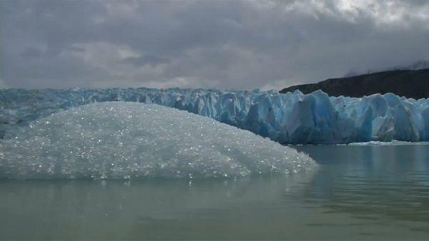Grosso iceberg si stacca da un ghiacciaio cileno