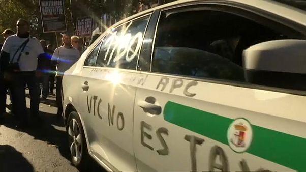 Испания: забастовка против Uber