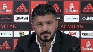 Gattuso exigente na hora da apresentação no Milan