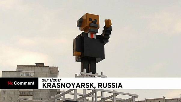 Siberian city erects Minecraft-style Lenin monument