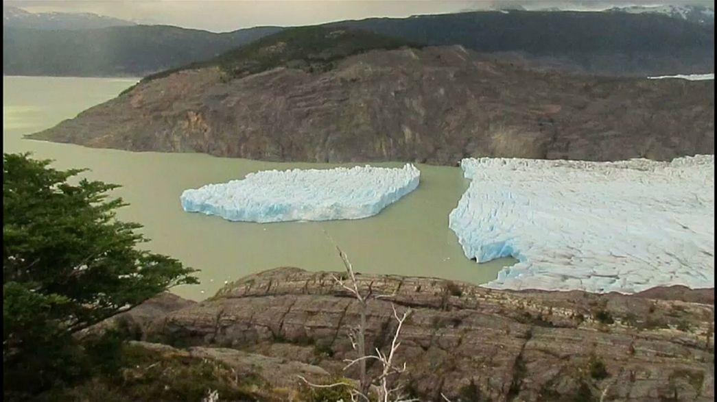 Grey-Gletscher in Chile auseinandergebrochen