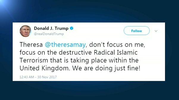 Vidéos racistes : Trump s'en prend à Theresa May