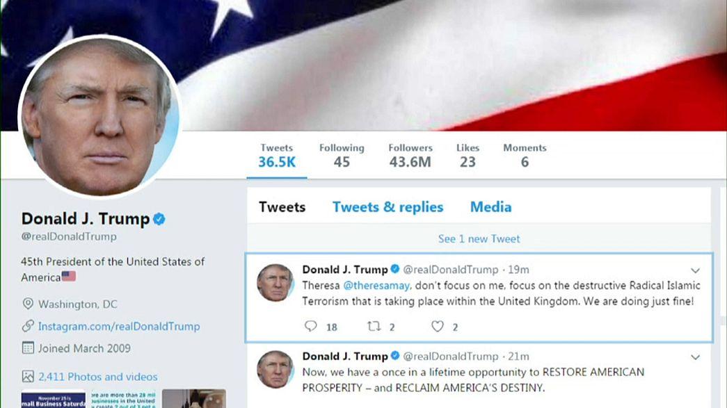 Trump Twitter'da yine skandal oldu