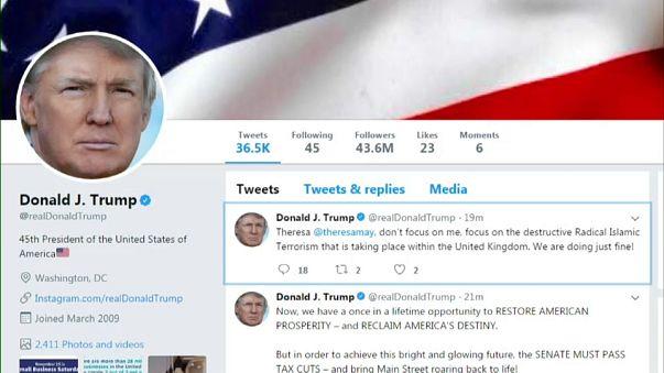 Twitterstorm as Trump hits back at May