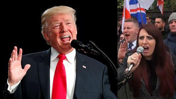 ترامب وناشطة من اليمين المتطرف البريطاني
