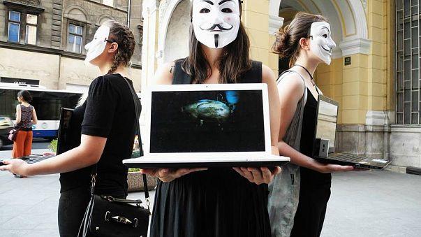 Vegan activists in Sarajevo