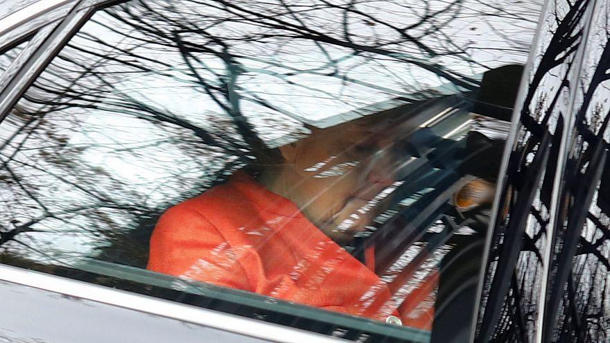 Merkel im Dienstwagen