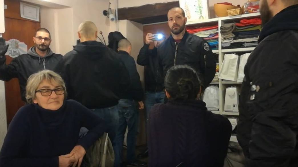 Neo-Nazi gang crash pro-migrant meeting in Italy