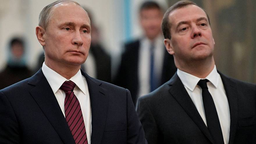 Vladimir Putin e Dmitri Medvedev