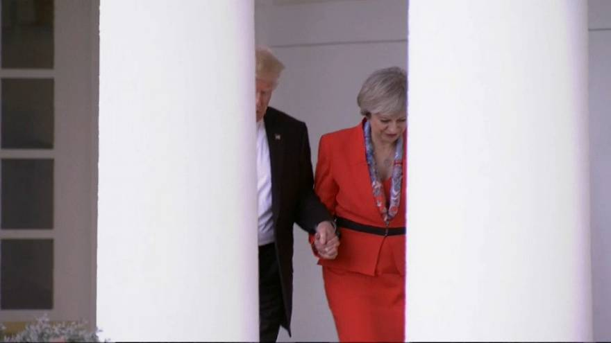 Trump and May earlier this year