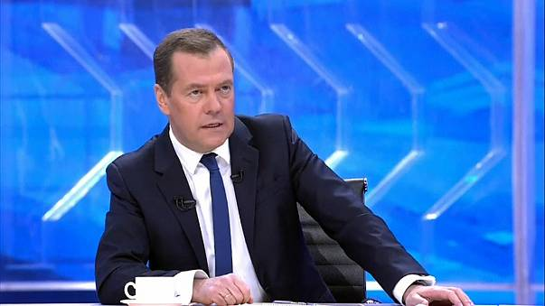 Russian Prime Minister Dmitry Medvedev during a TV interview on Nov. 30.