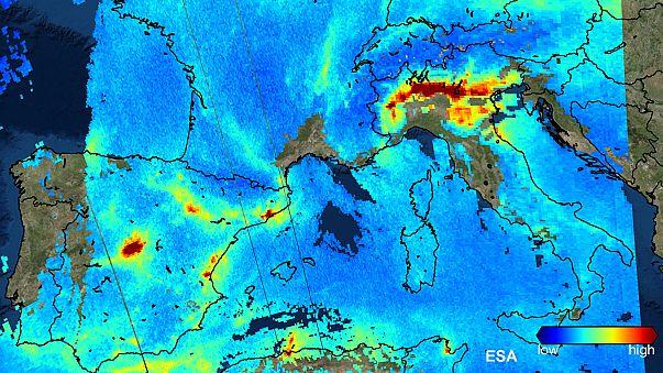 La contaminación en Europa, fotografiada en alta resolución