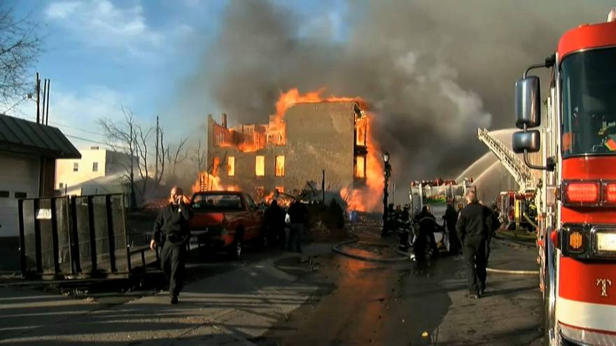 Incendie ravageur au nord de New York