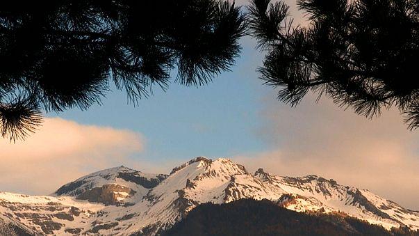 أحد قمم جبال الألب