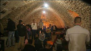جانب من احتفالات أهالي القدس في أحد أحياء المدينة