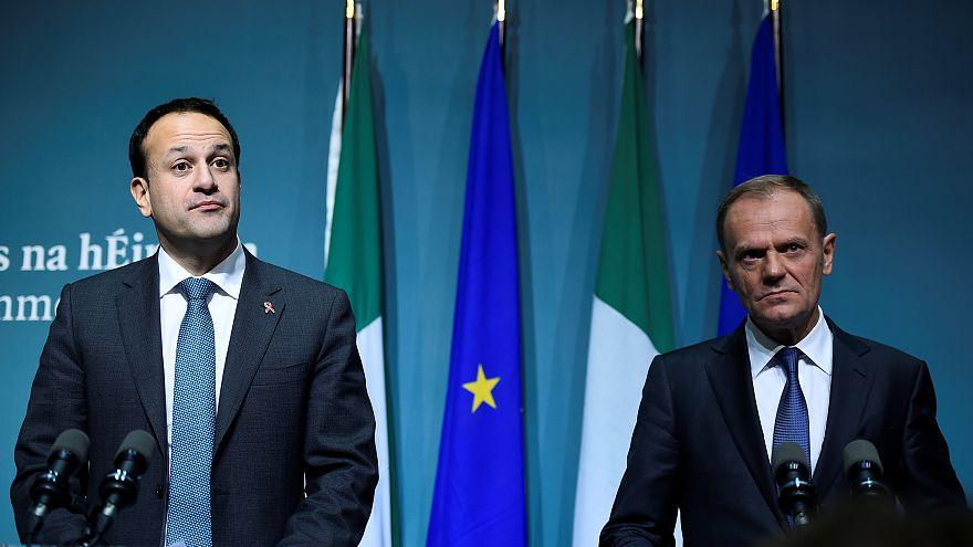 Irish Taoisaech Leo Varadkar and European Council President Donald Tusk