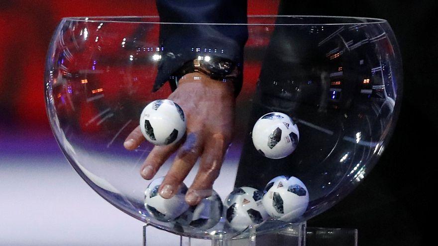 خلال قرعة كأس العالم في روسيا عام 2018