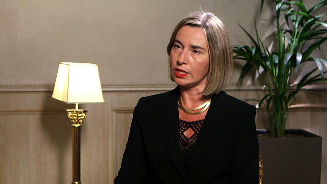 Mogherini meets Euronews: EU foreign policy chief talks Trump